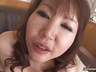 Sexy japanese milf with large scoops rides a hard penis