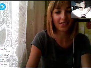 Linnamorato russo acquisisce i suoi miglioramenti per il massiccio bianco da 10 libbre sulla webcam