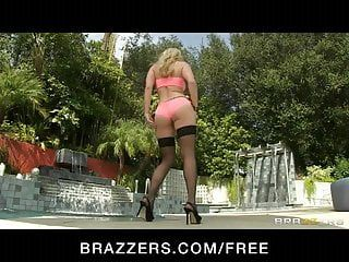 Brazzers - hawt golden-haired ashley fires oils up for anal sex